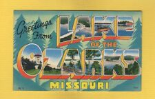Large Letter Greetings from LAKE of the OZARKS, missouri views in letters