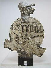 Old Original Tydol License Plate Topper gas oil auto petroliana advertising