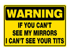Cant see my mirrors sticker jdm funny rude drift shift turbo boost v8 prank