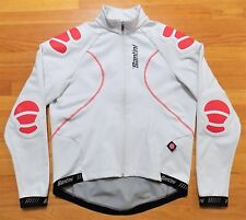 Santini Gore Windstopper Padded Cycling Jacket Mens Large L White