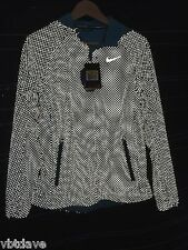 $500 Nike Shield Flash Max Running Jacket Dots Storm Fit Blue SMALL S New Women
