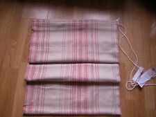 NEXT RED BLENDED WOVEN ORANGE BEIGE NATURAL STRIPED ROMAN BLIND 60X120CM RRP £40
