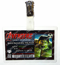Marvel Avengers ID Badge The Hulk Superhero Cosplay Costume Prop Christmas
