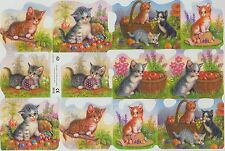 Chromo Le Suh Décroupis Chat chatons 2012 Embossed Illustrations Cat