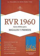 RVR 1960 Biblia para Regalos y Premios, Azul Océano/papaya Símil Piel (2016,...