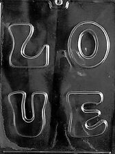 LOVE LETTER PIECES mold Chocolate Candy soap making valentines cake toppers