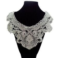 Women Embroidered Floral Neckline Neck Collar Trim Clothes Sewing Applique A