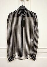 NEW ANTHONY VACCARELLO sheer striped shirt Blouse Silk FR38 S sold out