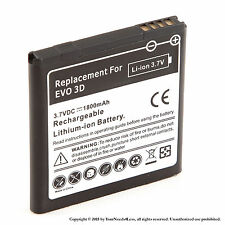 1800mAh battery for HTC Amaze 4G; HTC EVO 3D; HTC EVO V 4G; HTC Sensation XE
