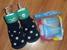 girls owl slippers by Circo & 6pair socks 12-24 12 18 24 months