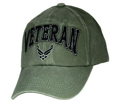 U.S. Air Force Veteran Hat / USAF Insignia OD Green Baseball Cap 6492
