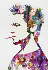 Fight Club Watercolor Poster By Anna Malkin - 13x19