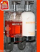 Molton Brown 300ml Double Chrome Handwash Holder Dispenser Arc Butler Wall Mount