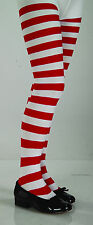 RED & WHITE STRIPED CHILDREN TIGHTS SIZE LARGE KIDS CHILD HALLOWEEN ACCESSORY