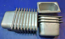 """4 LOT- Stainless Steel Ninth Size 4"""" Deep Steam Table Pan Buffet salad bar 1/9th"""