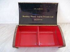 Vintage Metal Bombay Photo Stores Private Limited, Calcutta Tin With Chequered..