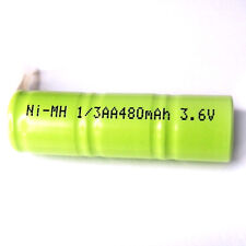 2x 1/3 AA 1/3AA 2A 3.6V 480mAh Ni-MH Rechargeable Battery with Tab Green
