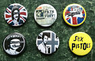SEX PISTOLS 6 BUTTON BADGES 1INCH / 25MM PUNK NEW WAVE SKA Oi POSTER