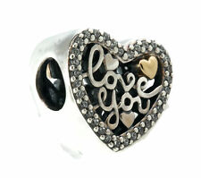 Authentic PANDORA Love Script Charm, Clear CZ 792037CZ
