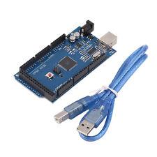 10pcs Mega 2560 R3 REV3 ATmega2560-16AU Board USB Cable Compatible For Arduino #