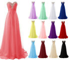 New Formal Wedding Bridesmaid Dress Evening Party Prom Ball Gown Stock Size 6-18