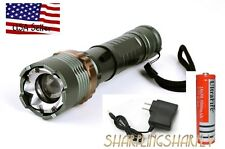 2000LM  XM-L T6 LED Rechargeable Flashlight Torch 18650 Battery  Charger