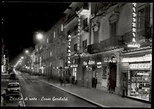 cartolina BRINDISI di notte-corso garibaldi