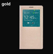 Gold LUXURY Window FLIP LEATHER Case Cover for SAMSUNG GALAXY NOTE 3 III N9000