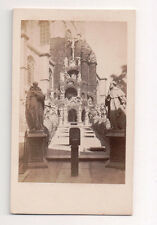Vintage CDV St. Paul's Church, Antwerp Belgium The Calvary Angel Path