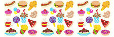 Sandylion Vintage Fast Food Pizza Burger Fries Popcorn Stickers *3 Squares*