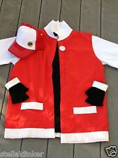 RED POKEMON TRAINER Costume -4 pc Cosplay w/ Hat - Men's  XL