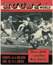 L'article joueurs de cricket Rugby & à rugby world magazine juin 1961 + jack preece info