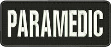 Paramedic embroidery patch 4x10 velcro  border white letters