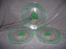 Set of 3 Mikasa Christmas Story Glass Plates - 1 Large, 2 Small