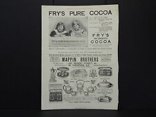 Illustrated London News Ad 07/Fry's Pure Cocoa - Universal Favorite/Dec 1888