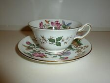 Wedgwood Charnwood Cup/Saucer, Multicolor Florals and Butterflies, Gold Tone Rim