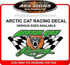 ARCTIC CAT RACING DECAL  graphic sticker ZR XF F5 SNO PRO