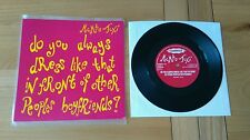 "Mambo Taxi Do You Always Dress 1993 UK 7"" Clawfist HUNKA20 Alt Indie Rock Ex/Ex+"