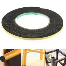 5M Black Single Sided Self Adhesive Foam Tape Rubber Strip Door Seal 2x5mm