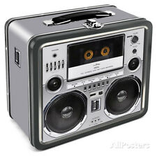 Boombox Lunch Box Metal Collectible - 8x7