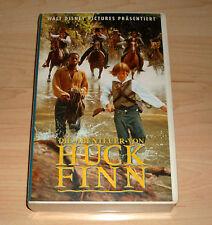 VHS - Die Abenteuer von Huck Finn - Walt Disney - Elljah Wood - Videokassette