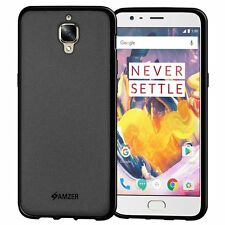 AMZER Pudding Matte TPU Case Skin Fit Back Cover For OnePlus 3 3T - Black