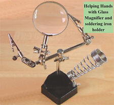 Expo Helping Hands with Glass Magnifier & Soldering iron Holder # 73862