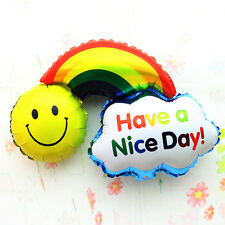 Small Rainbow & Smile Foil Balloon For Children Happy Birthday Party Decoration