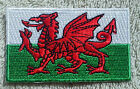 WALES FLAG PATCH Embroidered Badge Iron/Sew on 4.5cm x 6cm Welsh Cymru UK GB NEW