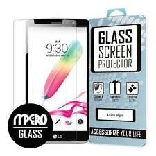 LG G Stylo Screen Protector Cover, Tempered Glass 1-Pack - MPERO