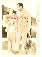 Vintage Carole Lombard Clark Gable HUNTING VACATION '40 PRESS OVERSIZE Portrait