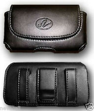 Leather Case Pouch Holster w Belt Clip for Verizon Palm Treo 700w / 700wx / 755p