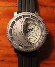 Planisphere Wrist Watch 43mm Diameter Case  with Box & Papers