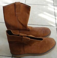 BRAZOS Men's brown Wellington Work cowhide leather Boots, size 13
